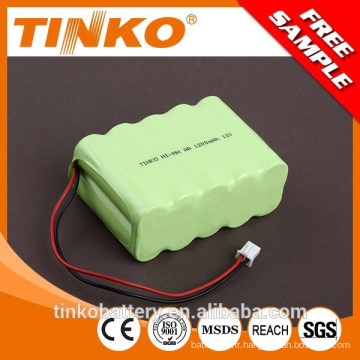 de shenzhen a connu conditionnements fabricant 12V NI-MH batterie rechargeable 1200 mAh AA