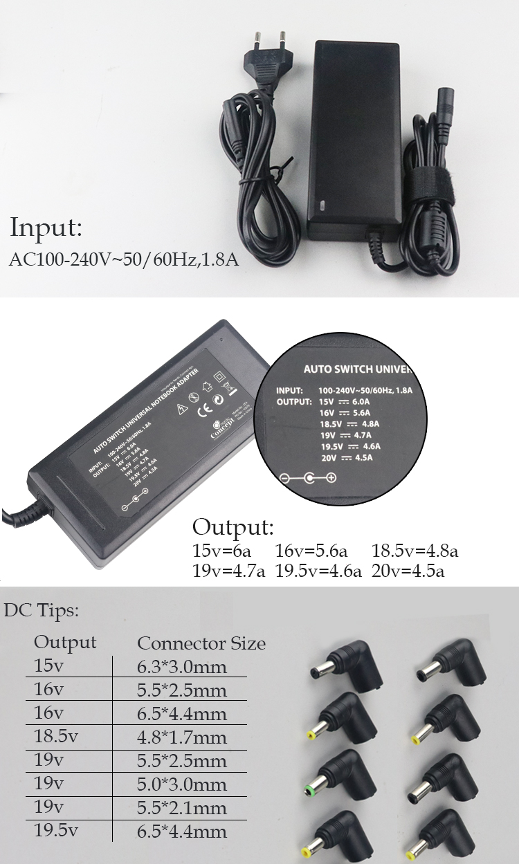 Universal laptop adapter 90w