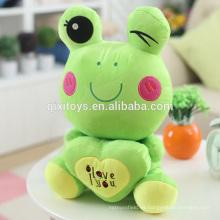 Venta caliente Funny Small Rana Doll Soft Toys Wholesale