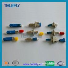 Adaptadores híbridos de fibra óptica macho para fêmea