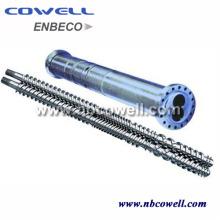 Twin Screw Barrel para Processamento de PVC