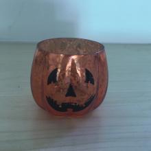Halloween Amber Mercury Glass Votive Candle Holders