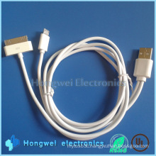 for iPhone 4 Cable and Android Micro 2in1 USB Cables