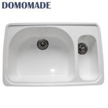 Customized High Quality White Farmhouse Restaurant Double Bowl Kitchen Farmhouse Sink