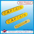 Rectangle Gold Plated Name Badge with Badge Clip Safety Pin
