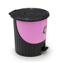 Redonda creativa de plástico pedal de polvo bin (yw0082)