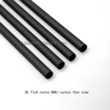 Tubo redondo de fibra de carbono de alta resistência e peso leve