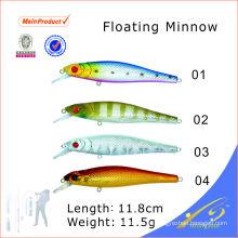 MNL009 señuelo de pesca de cebo artificial de plástico duro chino flotante minnow
