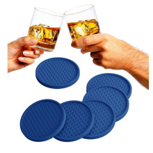 4 Pack Blue Bar Mat Coaster Set