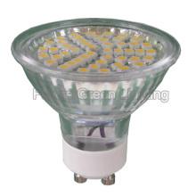 GU10 Светодиодная лампа TUV / CE / RoHS (48SMD 3528 со стеклянной крышкой)