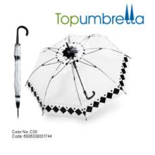 Nouvelle arrivée personnalisée PVC Transparent parapluies Nouvelle arrivée personnalisée PVC Transparent parapluies