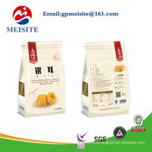 100% Food Grade Flat Bottom Pouch Bag with Zipper