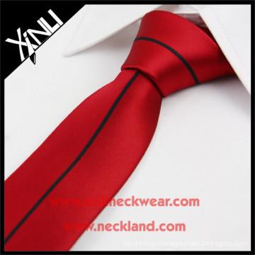 China Factory High Quality Handmade Silk Woven Skinny Panel Tie