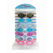 Quality Table Top Acrylic Display Stand For Swimming Or Ski Goggles, Safety Goggles Display Stand