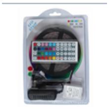 Lumières de bande de LED SMD2835 imperméable 5M 60leds / meter RVB Lumières de corde flexibles de couleur LED with12V 2A Power Supply