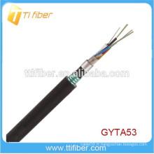 Câble de fibre optique extérieur à double blindage et doublé GYTA53