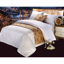 100% Cotton Satin Strip Bedding Linen for Hotel / Home (WS-2016323)