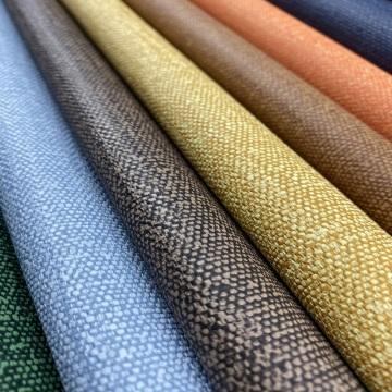 Tecido de linho em casa de couro PU para assento de sofá