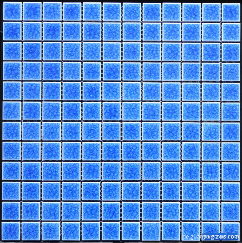 23x23 Blue Swimming Pool Porcelain Mosaic