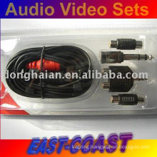 Audio Video Set,2rca cable + adapters