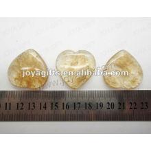 35MM forma de corazón Sandía café piedra, de alta pulido, de alta calidad, forma de corazón natural de piedra
