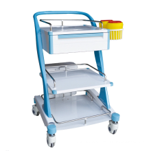 New Style Luxury ABS Plastic Medical Instrument Treatment Trolley