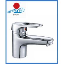 Torneira de água misturadora de bacia com punho único (ZR21502)