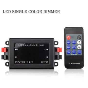 NOUVEAU DC12-24V 192w RF contrôleur de couleur sans fil variateur sans fil