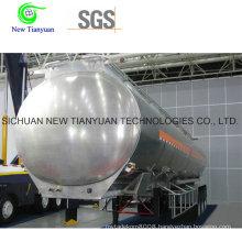 20m3 Volume LNG Cryogenic Tank Semi Trailer