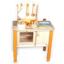 Retro Pretend Play Wooden Children Kitchen Toy