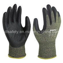 Nitril eintauchen Anti-Cut Arbeitshandschuh mit Stahlfaserbeton (NK3046)