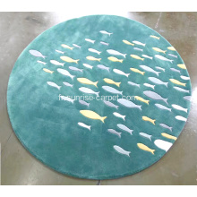 Polyester et Acrylique Hand Tufted Carved Carpet