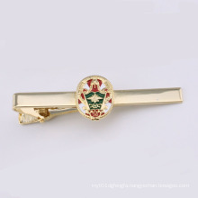 Tie Clip with Gold Plated Attaching Enamel Badge (GZHY-TK-001)