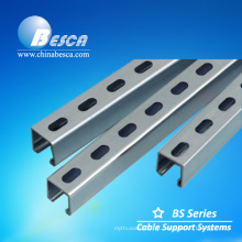 Aço inoxidável unistrut canal entalhado (UL, CE, SGS Listed Manufacturer)