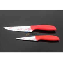 Cuchillo de cocina plástico colorido de la manija 2PCS (SE150006)