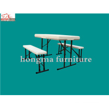 Garden Plastic Folding Beer Table with Benches