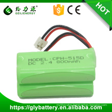 Geilienergy Hot Sale NIMH AAA 2.4v 800mah Cordless Phone Rechargeable Battery