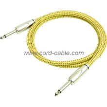 DBS Series Instrument Guitar Cable Jack to Jack Yellow Braided