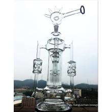 2016 Neueste Helix Flare Waterpipe Rauchen Rohr Abnehmbare Rauchen Pfeife Swiss Perc Wasser Rohr Inline Duschkopf Bent Neck Glas Wasser Rohr