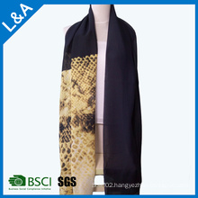 Chinese Ink and Wash Painting Scarf Scarves Personalized Silk Scarf