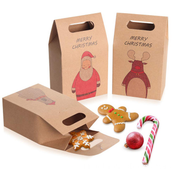 Brown Kraft Paper Christmas Cookies dan Candy Bags