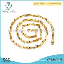 Fino colares de cadeia para os homens, jóias colar de cobre única cadeia