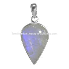 Natural Rainbow Moonstone Gemstone 925 Sterling Silver Pendant Jewelry