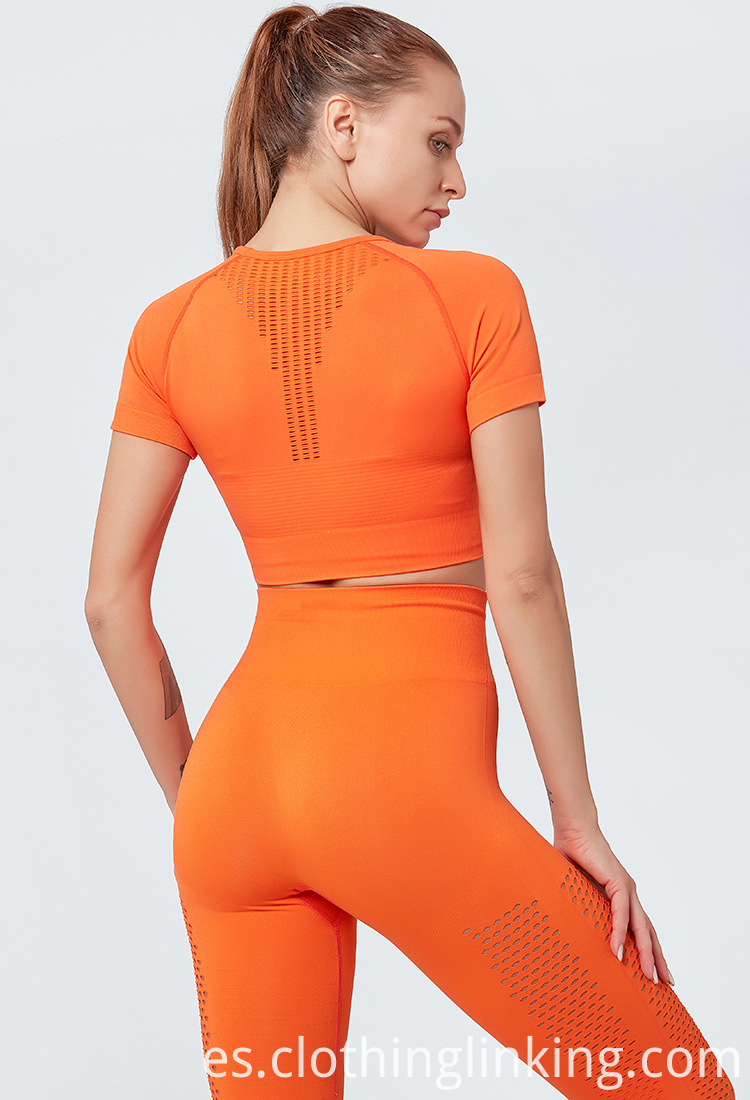 gym clothes in orange color