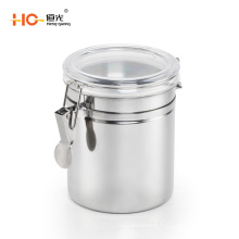 stainless steel airtight storage jar with lid kitchen canister sets
