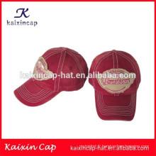 chapeaux de casquette de baseball en gros / broderie 3D chapeau de coton pas cher de haute qualité / chapeau de logo applique avec votre conception