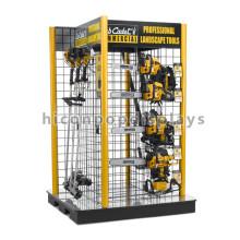 Durable Freistehende Rasenmäher Display Rack Custom 4-Way Hanging Garden Tools Heavy Duty Display Stand
