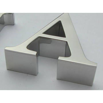 Hochwertige 3D Spiegel Edelstahl Nummer oder Buchstaben Zeichen