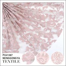 Logo personnalisé Tissu de broderie polyester de haute qualité