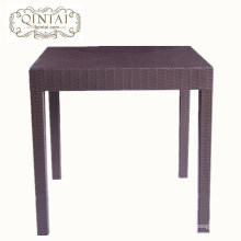 Wholesale China Alibaba furniture square plastic rattan dining cafe snack outdoor garden table